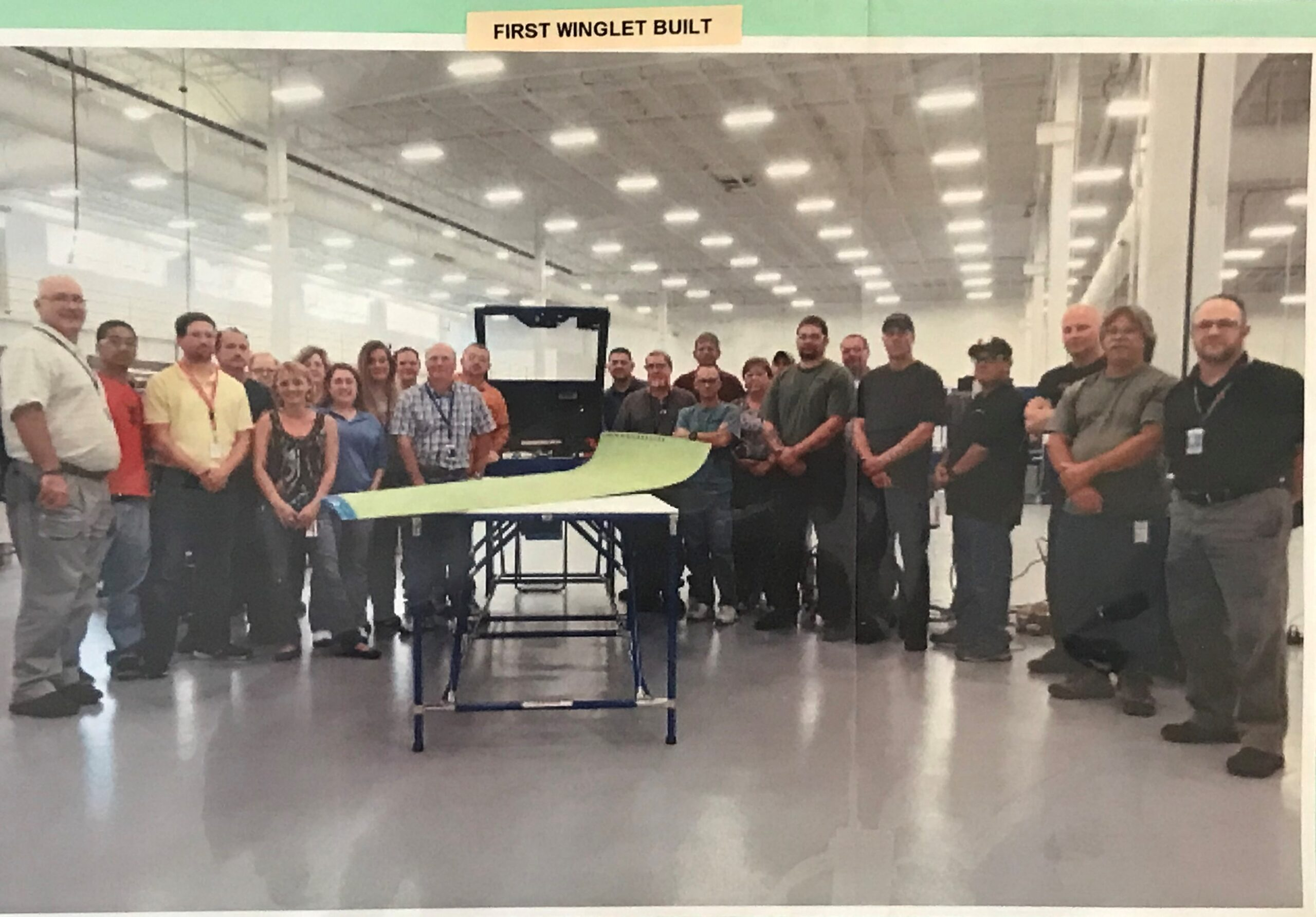 First Winglet Built in Charleston Aerostructures facility