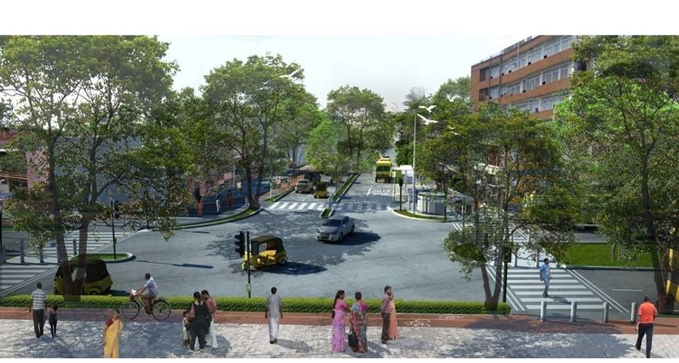 TNagar Nagar Pedestrian Plaza After