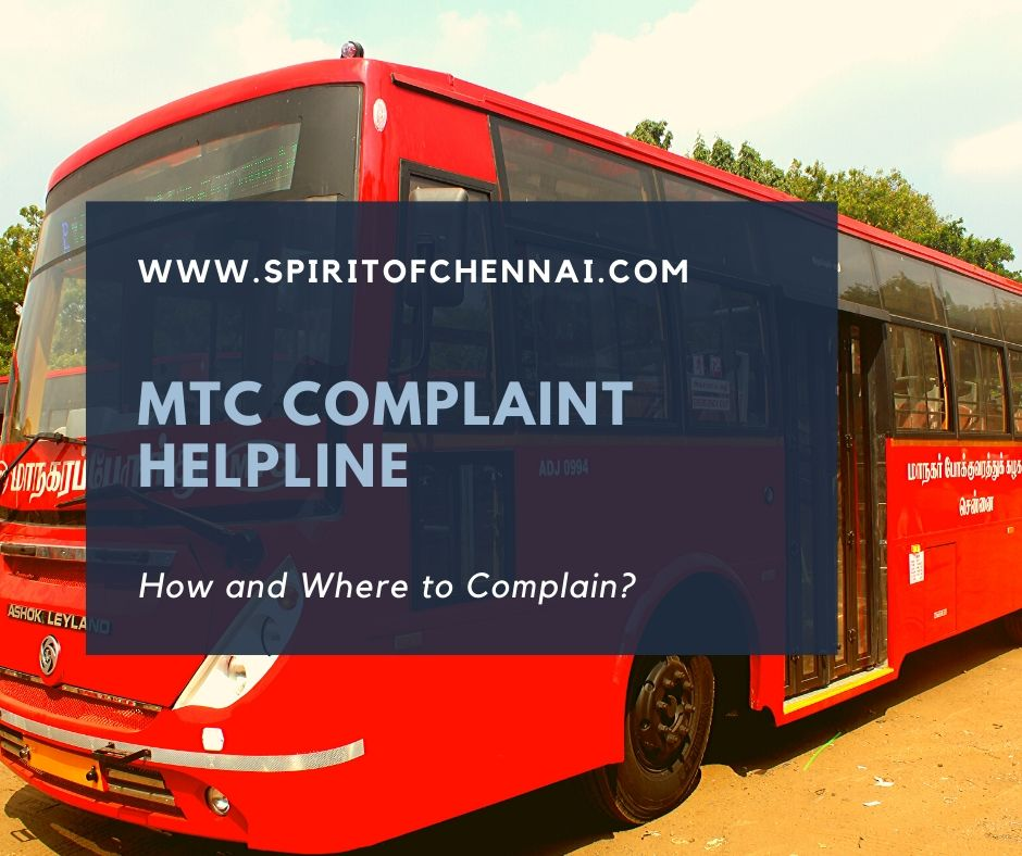 How to Complaint to MTC, Chennai