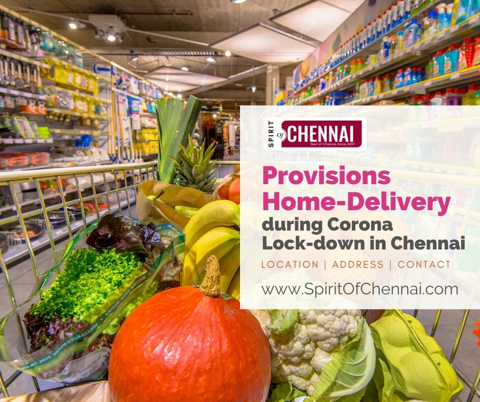 Provisions & Grocery Home Delivery in Chennai during Corona Lockdown