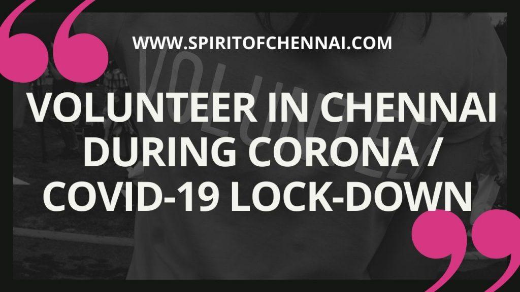 Volunteer in Chennai during Corona