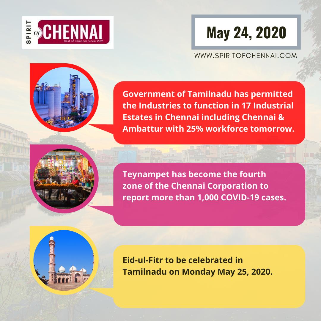 Chennai News - May 24, 2020