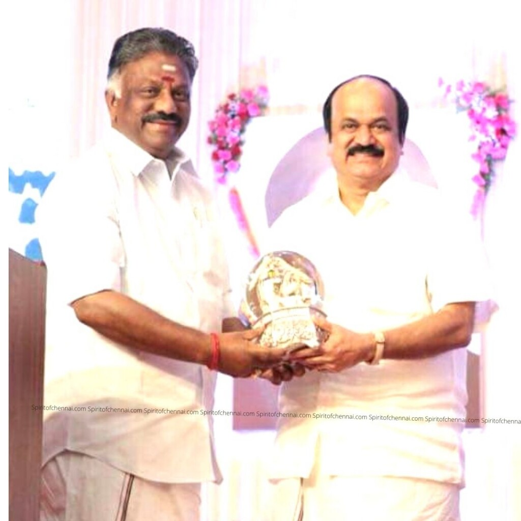 JCDPrabhakar with Deputy Chief Minister OPS