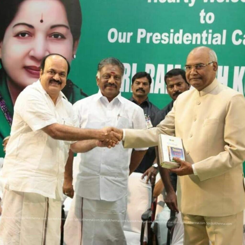J.C.D.Prabhakar with President Ram Nath Govind