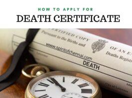 death certificate chennai online