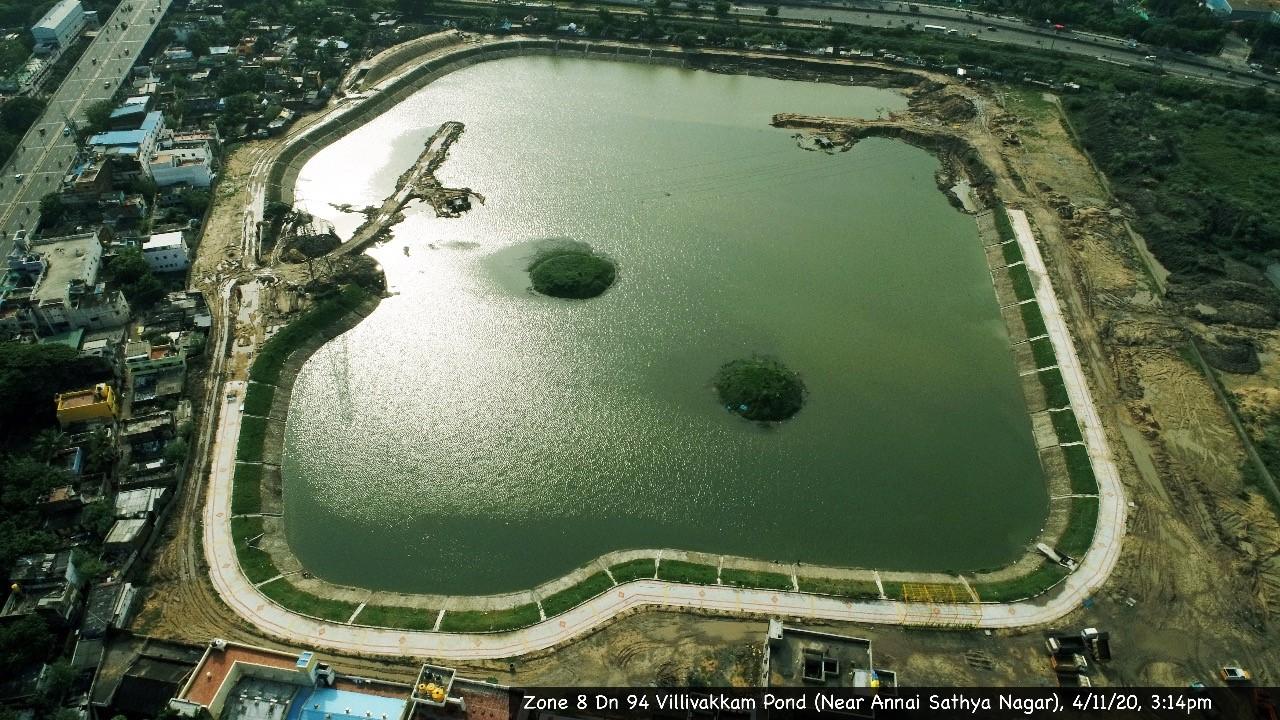 Villivakkam Lake Restoration led by Mr. L. Nandakumar