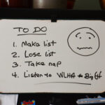 List on a white board