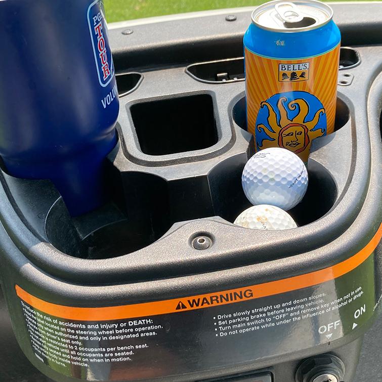 Golf cart warning label