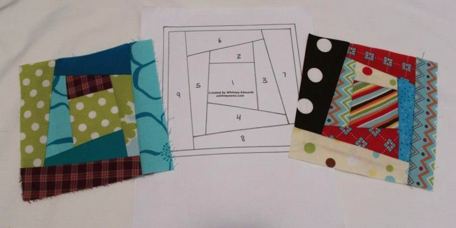 Scrappy Logs Paper Piecing Pattern from Whitney Sews