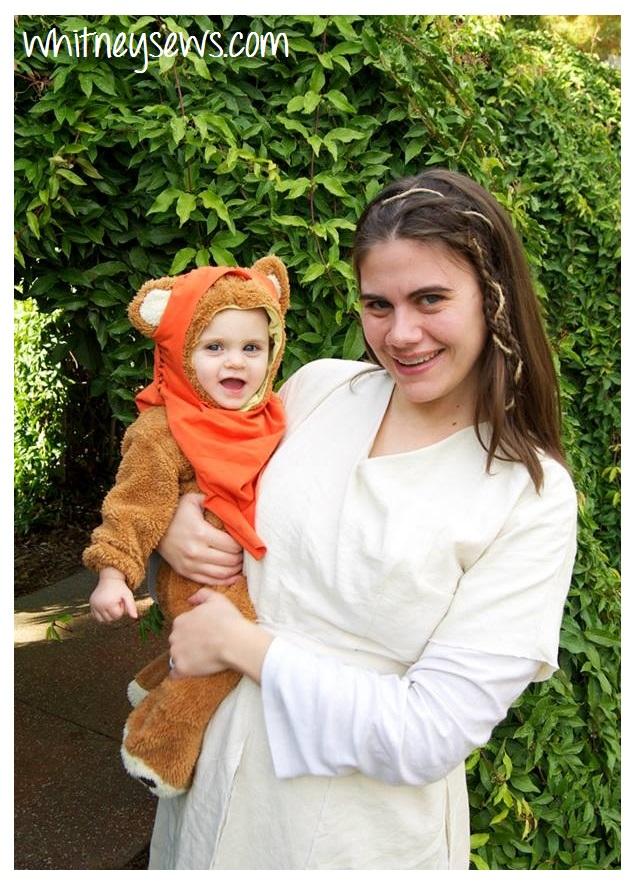 Princess Leia and Ewok DIY Costumes by Whitney Sews