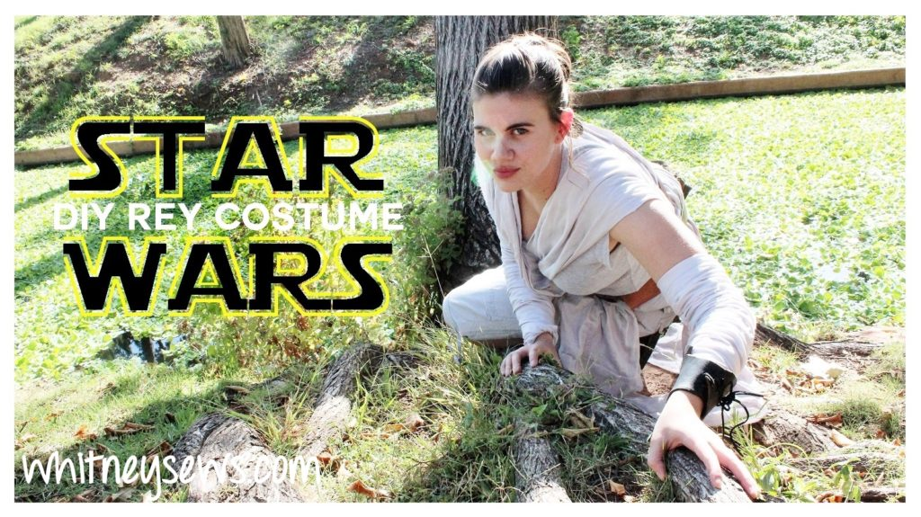 DIY Rey costume from Star Wars: The Force Awakens. Full FREE how to from Whitney Sews