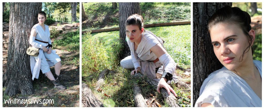DIY Rey Star Wars Costume How to from Whitney Sews