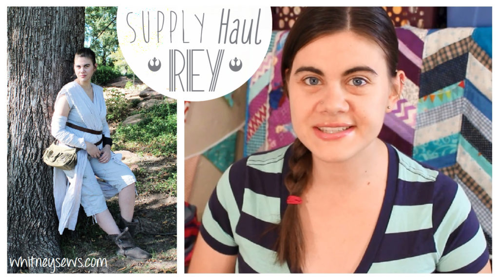 $10 DIY Rey Star Wars Costume Haul from Whitney Sews
