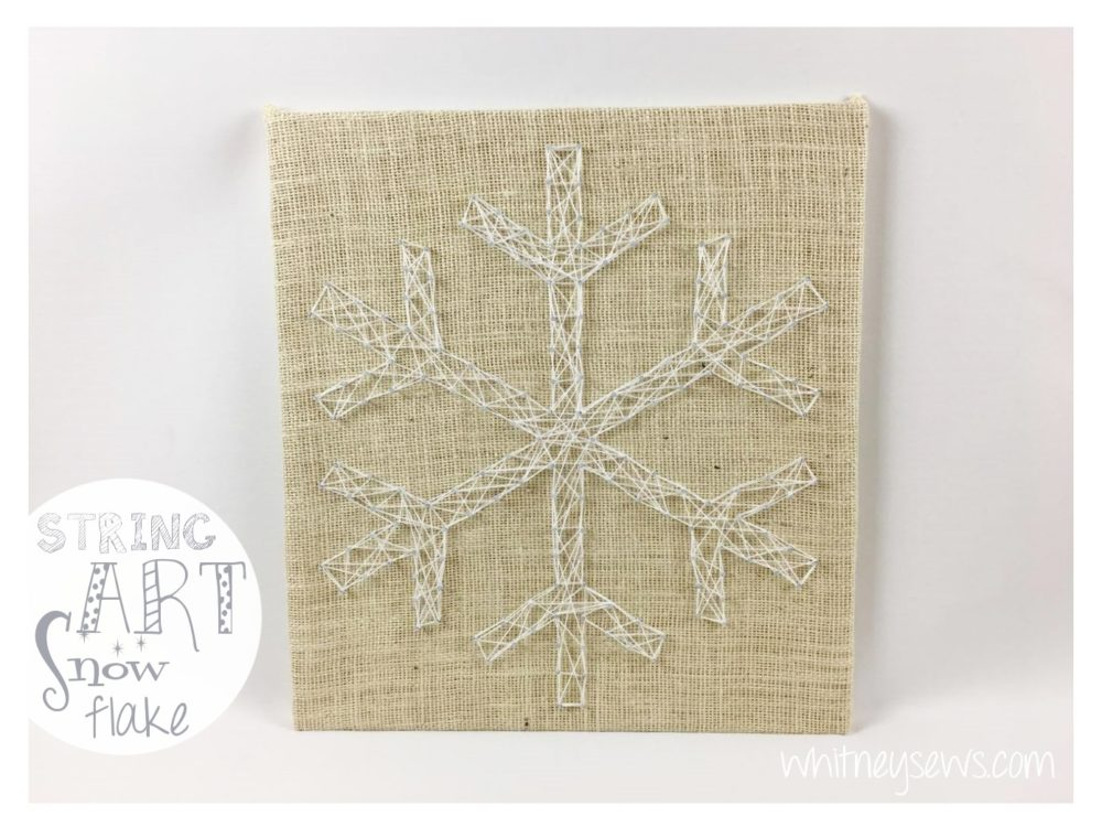 Snowflake string art - Holiday how to