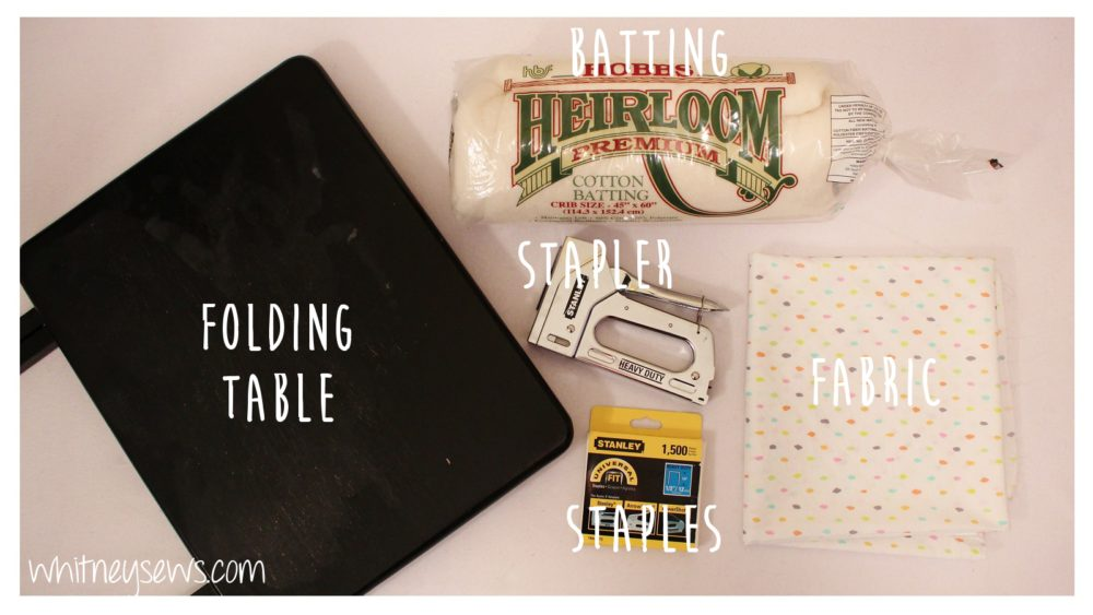 Supplies to make your own ironing table