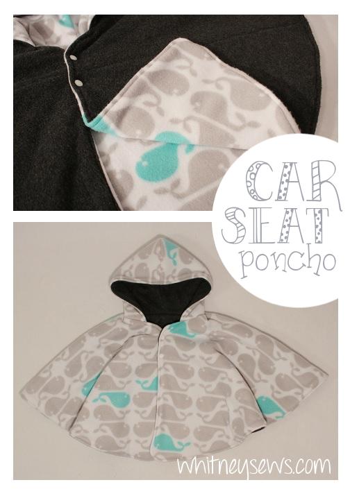 Car Seat Poncho How to - Whitney Sews