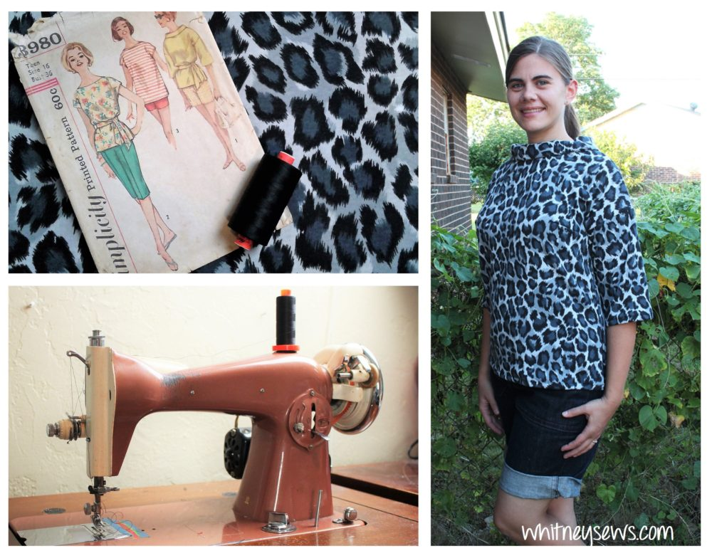 Creating a shirt from a 1960s Simplicity pattern on a 1960s sewing machine