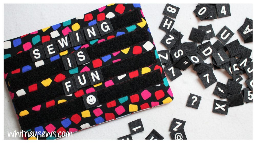 Letter Board Bag Sewing How to