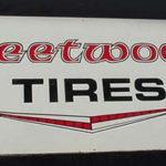 Vintage Original Old Fleetwood tires Tin Sign