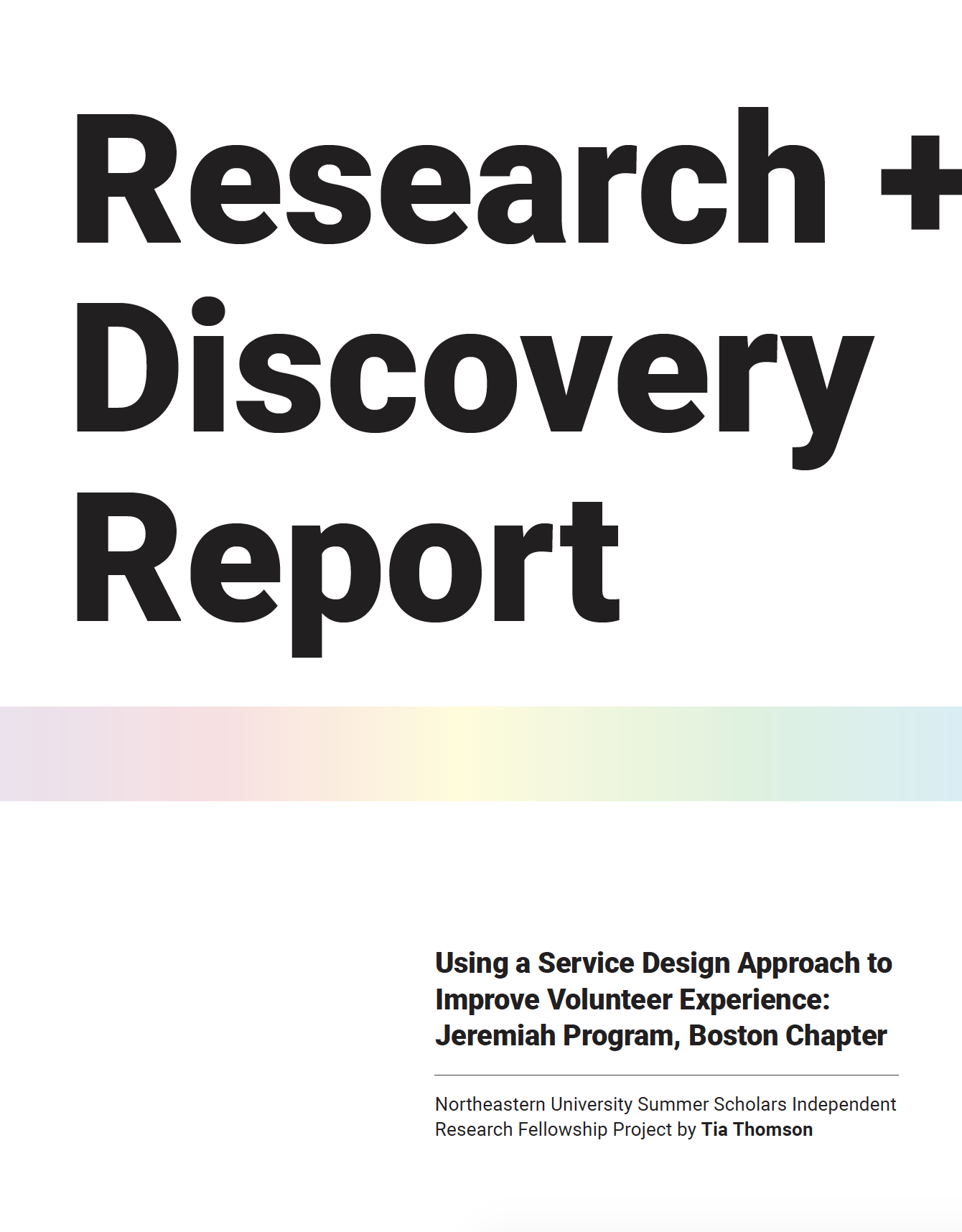 Research + Discovery Report