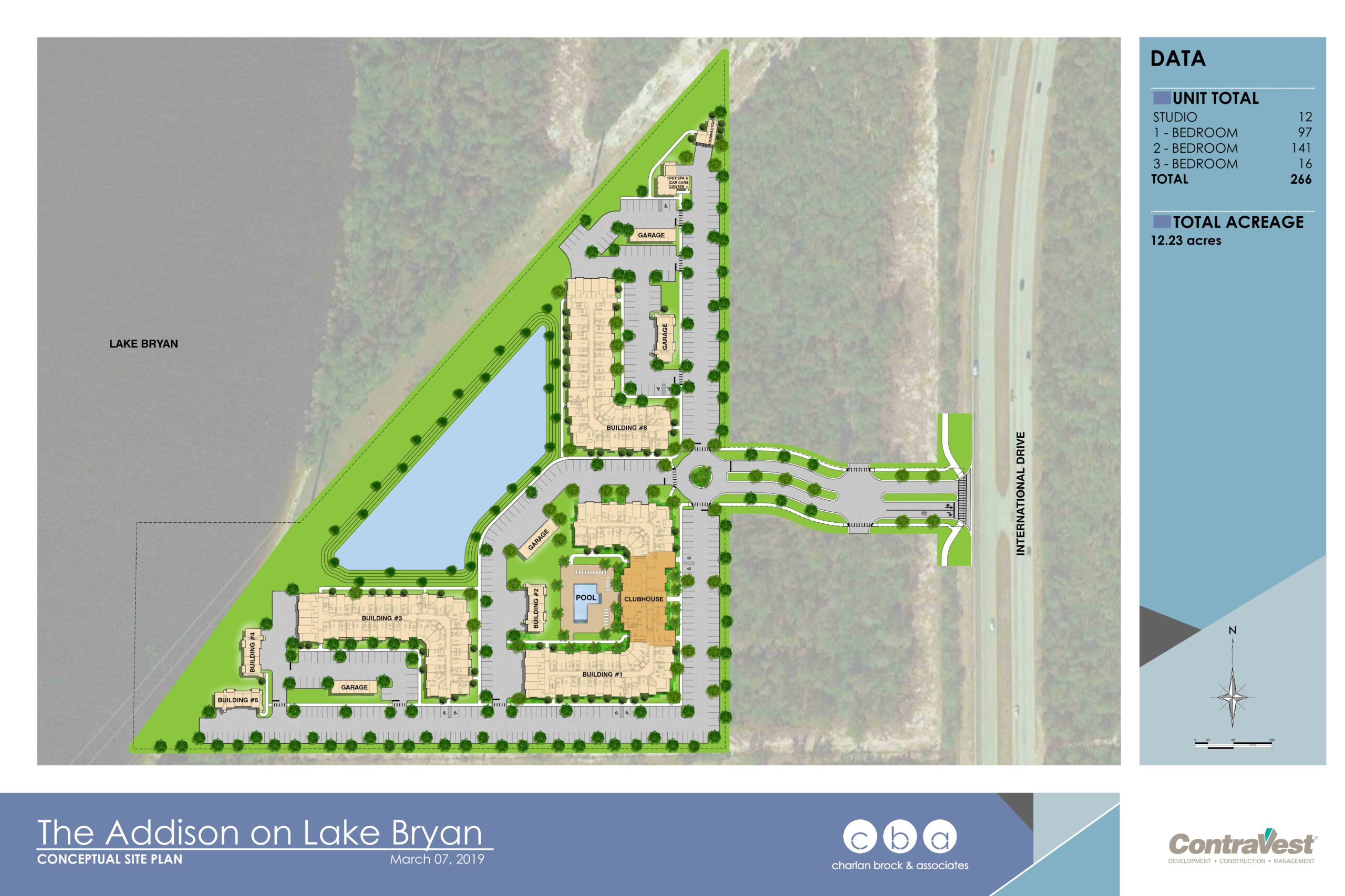 The Addison Lake Bryan Site Map