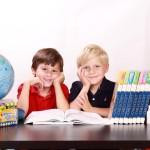 Two children reading in Orange County