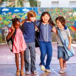 Happy kids at school in Santa Ana, CA