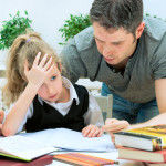 Father Helping Daughter with Homework | Child Custody Lawyer