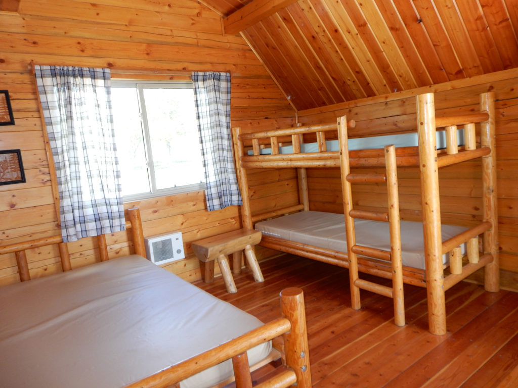 Cabins with bed and bunks