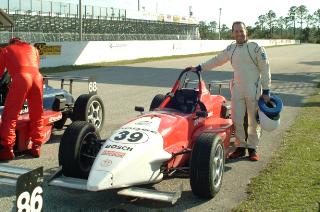 The Dental Warrior races cars.