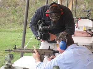 Cameraman getting very close to my friend and fellow shooter, Brett.