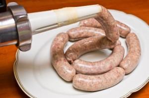 Homemade traditional sausage