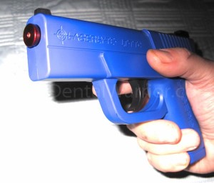 """Trigger Tyme"" pistol with LT-Pro in muzzle."
