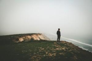 person cliff battle