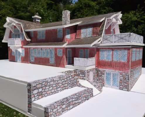 barn style passive house model