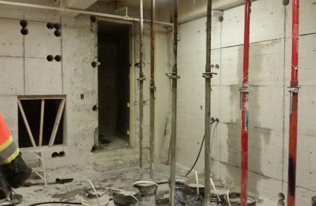 Cement Door Opening