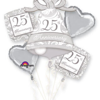 25th anniversary balloon bouquet