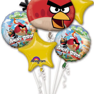 angry birds balloon bouquet