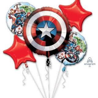 avengers shield balloon bouquet
