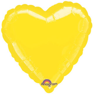 yellow heart balloon