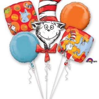 dr seuss balloon bouquet