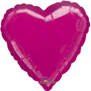fuschia heart balloon