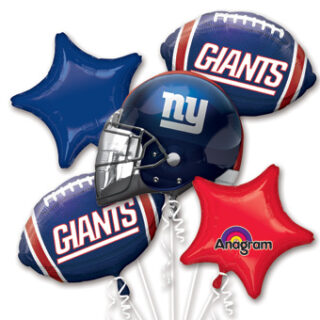 ny giants balloon bouquet
