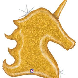 gold unicorn balloon