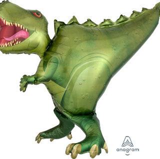 green t-rex balloon