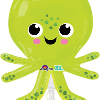 green octopus balloon