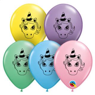 pastel unicorn balloons