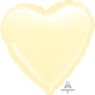 pearl ivory foil heart balloon
