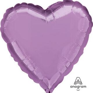 pearl lilac foil heart balloon