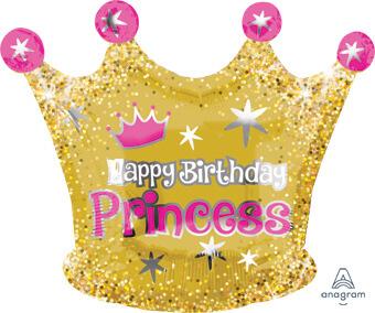 glittering princess crown balloon